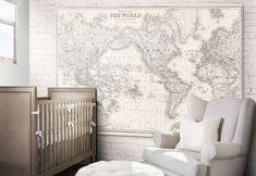 World Map Print : Nursery World Map print art poster  1852 Nursery World, Map Nursery, Travel Nursery, Nursery Room Decor, Nursery Prints, Nursery Themes, World Traveler Nursery, Lucas Nursery, Nursery Ideas