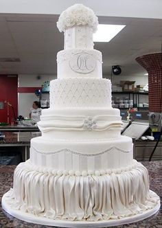 Wedding cake by The Cake Boss for Mario Lopez