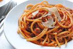 Everyone LOVES this! Its so good you wanna lick the bowl. Buccatini and sausage  in a red pepper sauce.