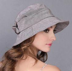 Plain bucket hat for women with bow sun hats outdoor wear