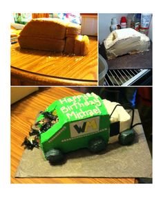 Garbage Truck/Waste Management cake I made for my nephew's 4th birthday.