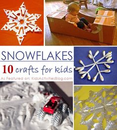 let it snow!!  10 Activities about snow, snowflakes and winter for your kids to enjoy.