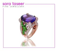 Classic Sleek Cocktail Rings - Exclusively at Sara Taseer Fine Jewellery #amethyst #tsavorite #diamond #cocktailring #rings #gold #affluent #lux #gems #jewellery #sgdesigner #designer #igsg #jewelry #jewels #precious #design #wealth #exquisite #style #couture #fashion #highend #designer #luxurylifestyle #luxury #luxurious #artpieces #sarataseerfinejewellery #exclusive