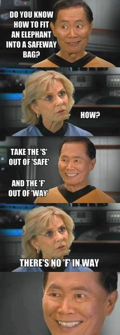 Takei strikes again... the more I look at it the funnier it gets