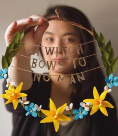 Grace Chin empowering floral wreaths