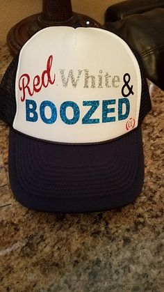 3535ccb84f8 4th of July hat.  catscreations Red And White