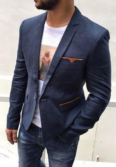 Стильный модный пиджак мужской