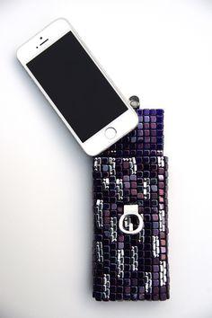 kettenlänge 45cm material: czech beads tile, silberfarben & blau, Hause ideen