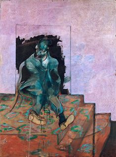 Francis Bacon - Untitled (Seated Figure On A Dappled Carpet), 1966 Francis Bacon Studio, Michel Leiris, Pablo Picasso, Modern Art, Contemporary Art, Robert Motherwell, Irish Art, Abstract Expressionism, New Art
