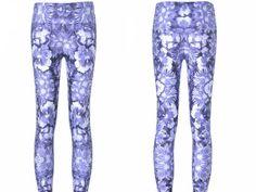 BLUE FLORAL LEGGINGS – Lotus Leggings