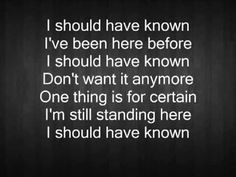 I Should Have Known-Foo Fighters lyrics