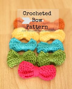 Crocheted Bow Pattern and Tutorial