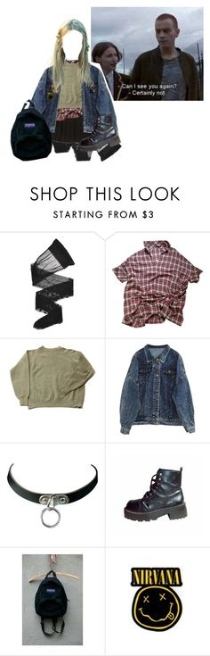 """""""Stay away girl."""" by n-fairchild ❤ liked on Polyvore featuring Wolford, Maje and Floyd"""