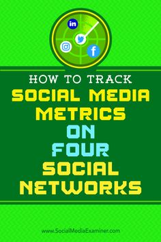Are your social media marketing efforts working?  In addition to revenue, there is real value in knowing how many people engage with your social media posts.  In this article, you'll discover which KPIs to track for Twitter, Facebook, LinkedIn, and Instagram. Via @smexaminer.