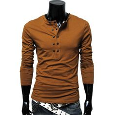 Mens Casual layered style pocket tshirts