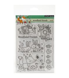 Penny Black Woodland Friends Clear Stamps 5''x6.5''
