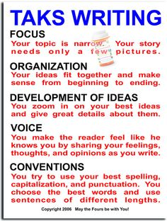 Taks Writing Guide by The Writing Doctor, via Flickr