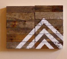 Arrow no.1 - Modern Industrial Design - Reclaimed Driftwood Artwork via Etsy.