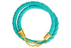One Kings Lane - Accessories Refresh - Double Wrap Bracelet, Seafoam