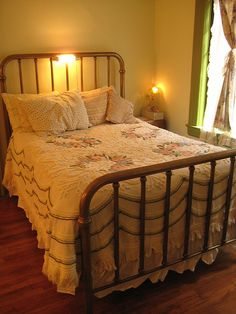 My grandparents had these types of beds.  It reminds me of visiting them when I was a kid.  Miss them.