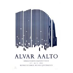 Alvar Aalto Architecture Exhibition poster from The sketch shows the Alvar Aalto-designed Seinäjoki Town Hall which is part of Seinäjoki's Administrative and Cultural Centre – an integrated architectural whole unlike anything else anywhere in the world. Chinese Architecture, Modern Architecture House, Futuristic Architecture, Modern Houses, Alvar Aalto, Poster Series, Exhibition Poster, Cultural Center, Zaha Hadid