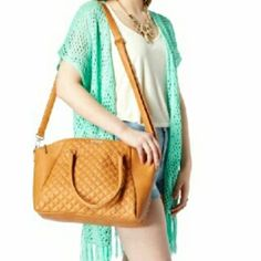Large brown satchel Large brown satchel with quilted front, the kind of oversized bag you can stuff your life into and still look chic  Free gift with the purxhase of two or more items in my closet. Rue 21 Bags Satchels