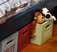Under bed toy storage - Get Organized in 2013 - Kids Bedroom and Play Room Organization Tips and Ideas (photo from BHG.com)