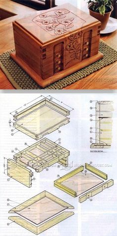 Carved Jewelry Box - Woodworking Plans and Projects | WoodArchivist.com