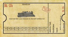 Free Printable & Customizable Train Ticket Invitation - PERFECT for my son's birthday party this year!