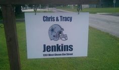 "The Jenkin's family uses eSigns.com! Check out their great review, ""We want to thank you guys for our awesome sign...we love it!!!!""  -Chris and Tracy"