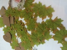 SunAngel Package of Approximately 144 Artificial Autumn Maple Leaves Fall Silk Leaves for for Weddings, Events and Decorating (Green) -- See this great product.