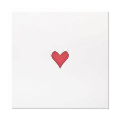 heart print  $40.00   Our heart print is letterpress printed by hand on antique machinery. Red ink on white archival paper.  Fits a standard 10 x 10 frame.