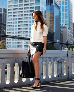 Monochrome Street Style on Friend in Fashion