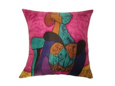 Upcycled Picasso Print Cushion by LittleMillHouse on Etsy, £50.00