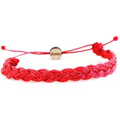 Domo Beads Mini Braided Retractable Bracelet | Red (685 INR) ❤ liked on Polyvore featuring jewelry, bracelets, accessories, red, braided cord bracelet, braid jewelry, red bracelet, woven jewelry and red bangles