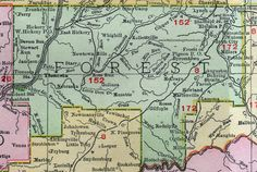 The 67 best Historic Pennsylvania County Maps images on Pinterest     Forest County  Pennsylvania 1911 Map by Rand McNally  Tionesta   Marienville  PA