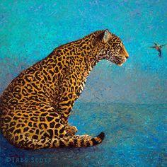 Живопись пальцами художницы Айрис Скотт (Iris Scott)