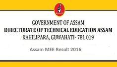 Assam MEE Result 2016