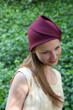 wine hand draped cloche hat. To see the source оf this item click on the picture. Please also visit my Etsy shop LarisaBоutique: https://www.etsy.com/shop/LarisaBoutique Thanks!