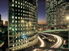 La Defense business district by night