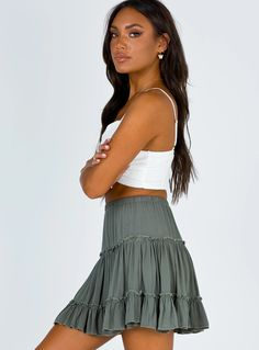 Color Khaki, Khaki Green, Green Mini Skirt, Online Fashion Boutique, Princess Polly, Summer Skirts, College Outfits, Summer Looks, Midi Skirt