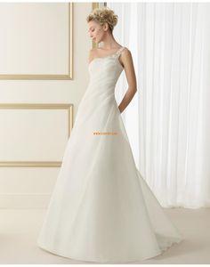 A-vonalú Selyemövek/Szalagok Természetes Évjárat Menyasszonyi ruhák