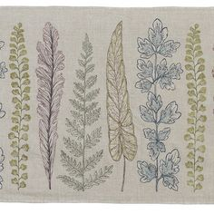 Coral and Tusk - plants table runner