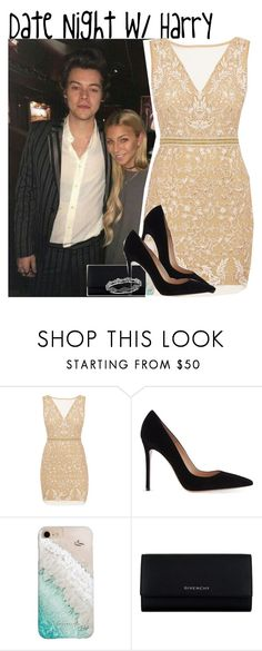 """Date Night w/ Harry"" by mikkielaine ❤ liked on Polyvore featuring Nicole Miller, Gianvito Rossi, Gray Malin and Givenchy"