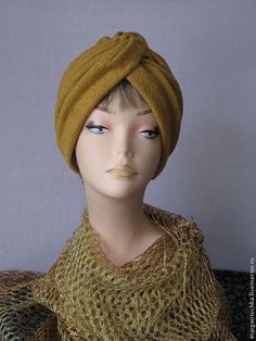 Шапки ручной работы. Ярмарка Мастеров - ручная работа. Купить Чалма - тюрбан осень вареная шерсть. Handmade. Чалма теплая