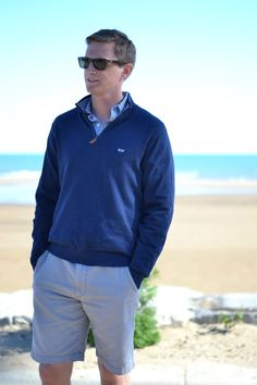 Vineyard Vines quarter-zip men's sweater.