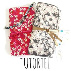 A new tutorial! the jewelery kit tutorial! - The creations of Dehem Sewing Tutorials, Sewing Crafts, Sewing Projects, Sewing Patterns, Bag Tutorials, Sewing Art, Bag Patterns, Coin Couture, Couture Sewing