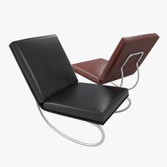 easy chair 3d model max obj 3ds fbx 1
