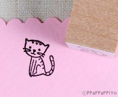 small cat 01 Rubber stamp