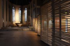 """old church remodeled to a """"church of the youth"""" in Mühlhausen, Germany"""